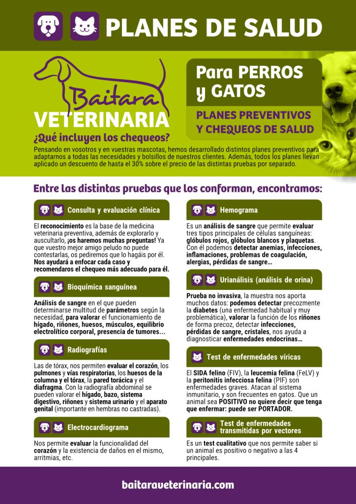 Planes de salud para perros y gatos en Baitara Veterinaria